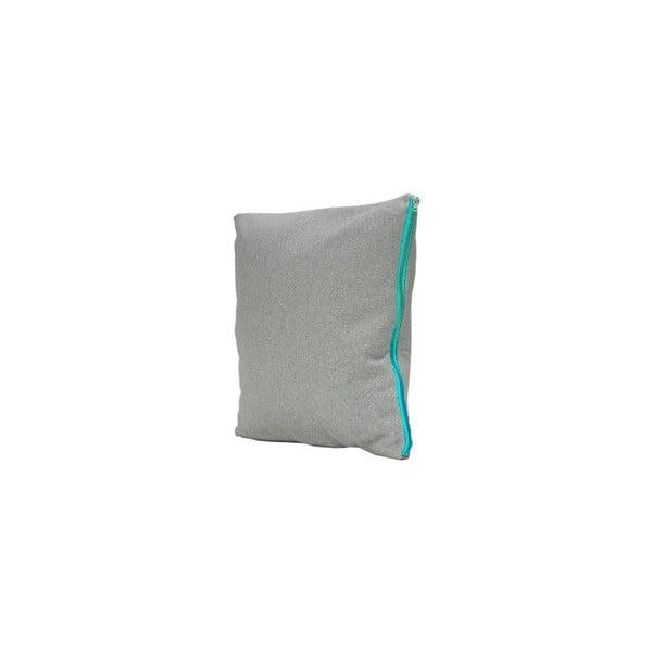 Polštář Fisura Gris Azul, 45x45 cm