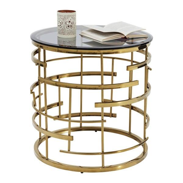 Odkladací stolík v zlatej farbe Kare Design Jupiter, ⌀55cm