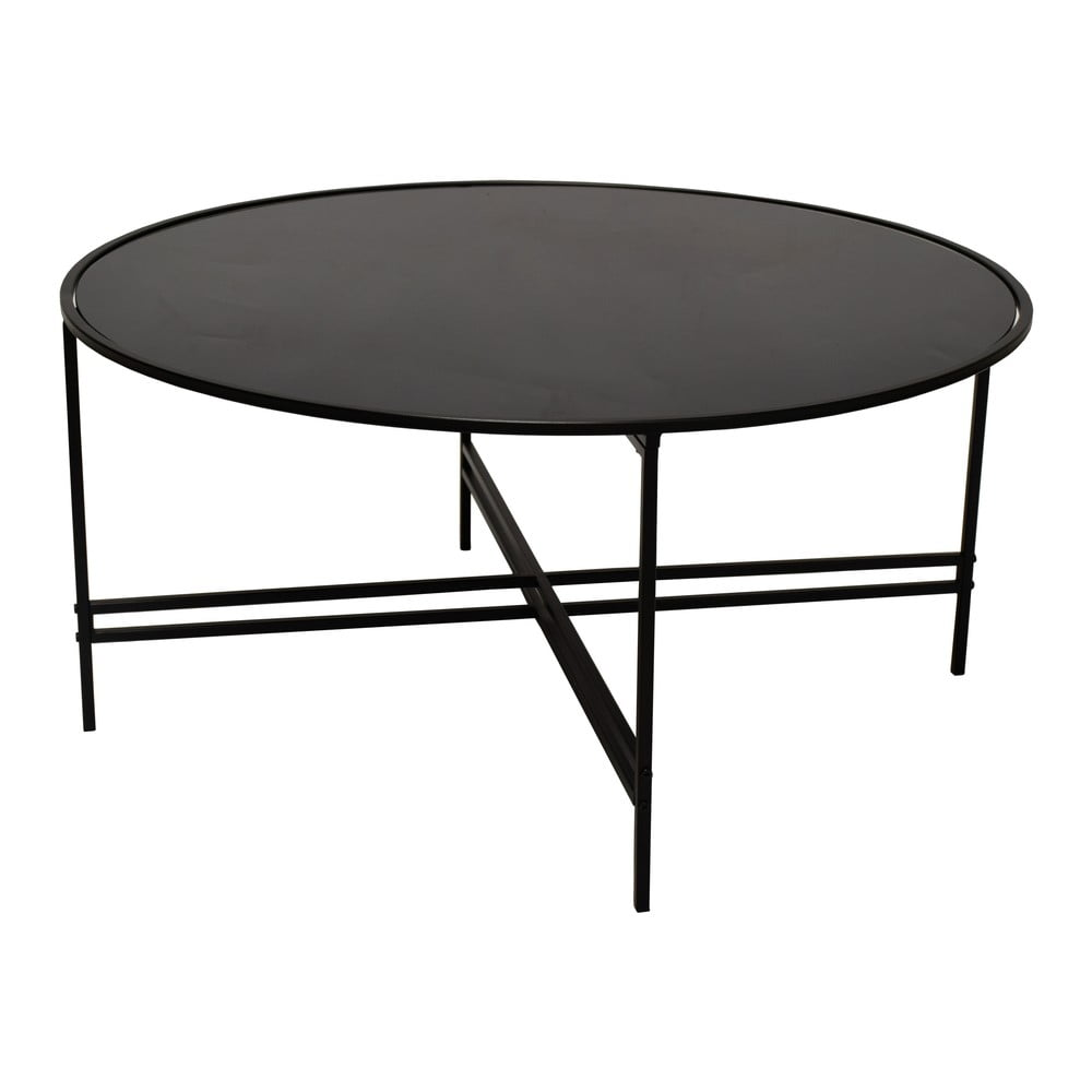 Černý skleněný konferenční stolek RGE Maison