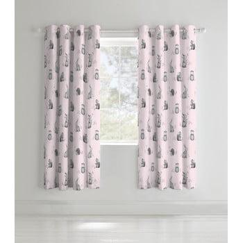 Set 2 draperii pentru camera copiilor Catherine Lansfield Woodland Friends, 168 x 183cm imagine