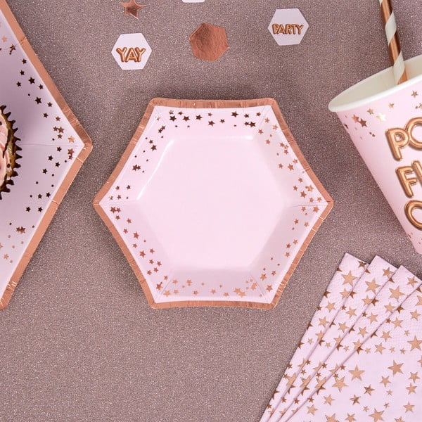 Set 8 farfurii din hârtie Neviti Glitz & Glamour Stars, ⌀ 12,5 cm