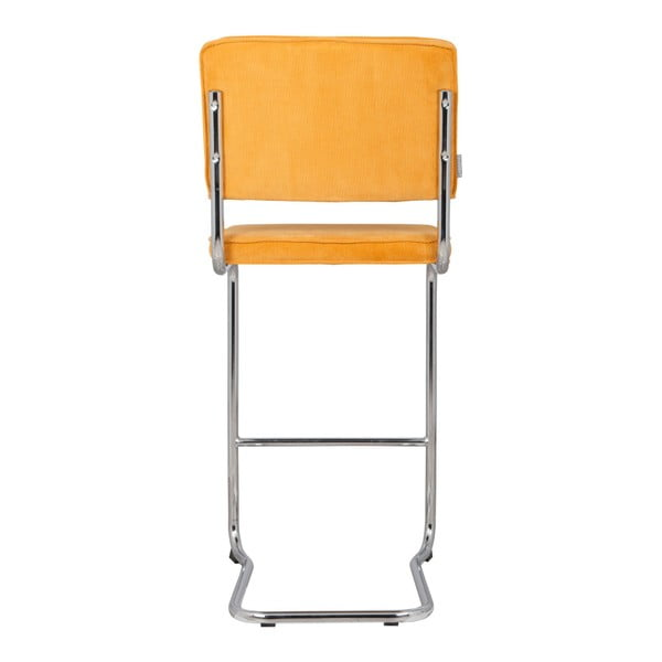Žlutá barová židle Zuiver Ridge Kink Rib