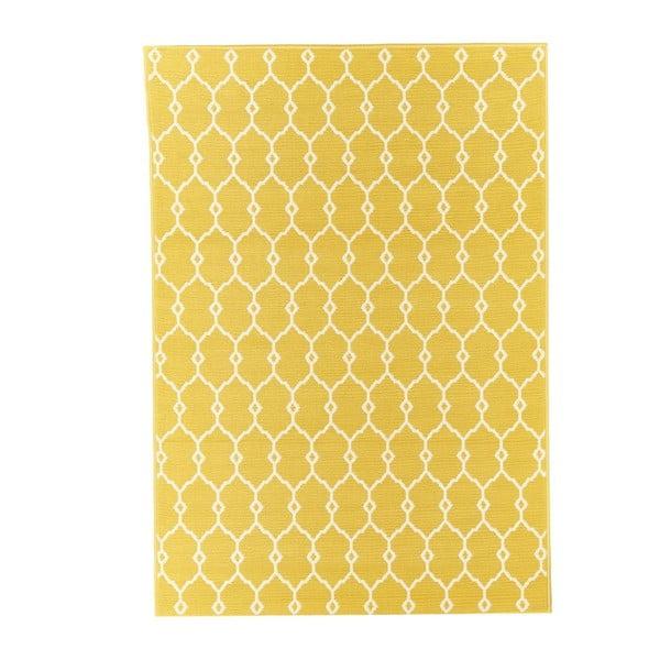 Żółty dywan odpowiedni na zewnątrz Floorita Trellis, 160x230 cm