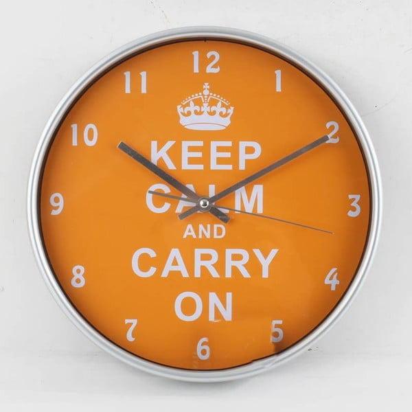 Hodiny Keep Calm Orange