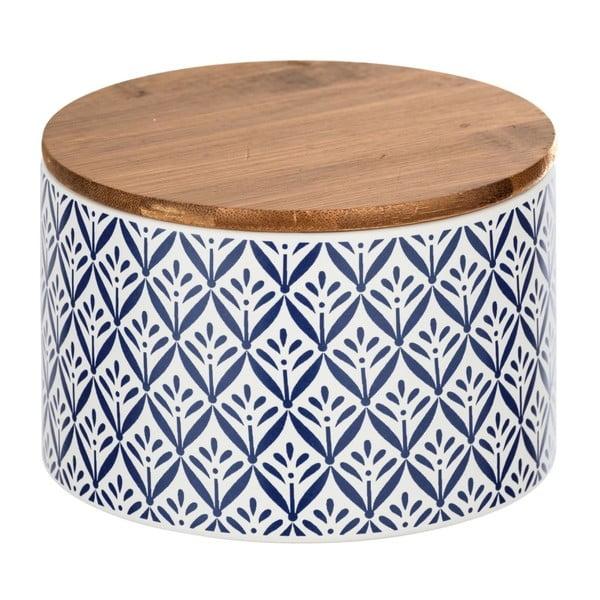 Ceramiczny pojemnik z bambusową pokrywką Wenko Lorca, 750 ml