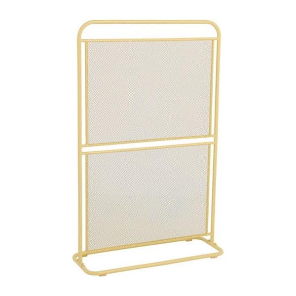 Paravan metalic pentru balcon ADDU MWH, 124 x 80 cm, galben
