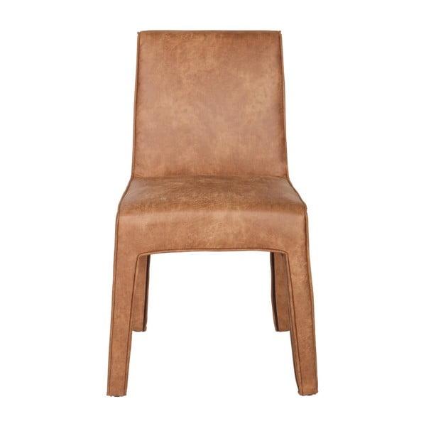 Sada 2 hnědých kožených židlí De Eekhoorn Cocoon