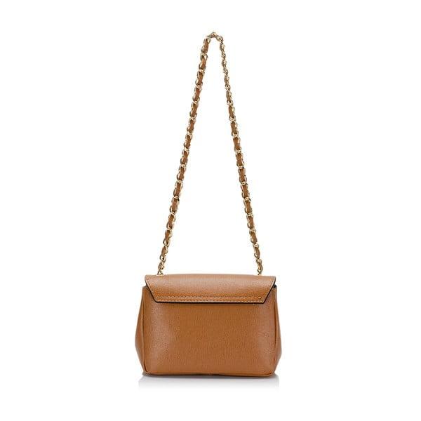 Světle hnědá  kožená kabelka s mašlí Giorgio Costa Saffiano