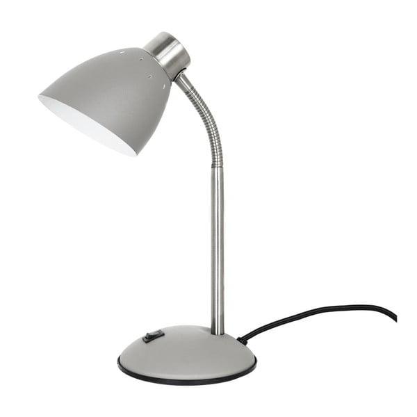 Szara lampa stołowa Leitmotiv Dorm