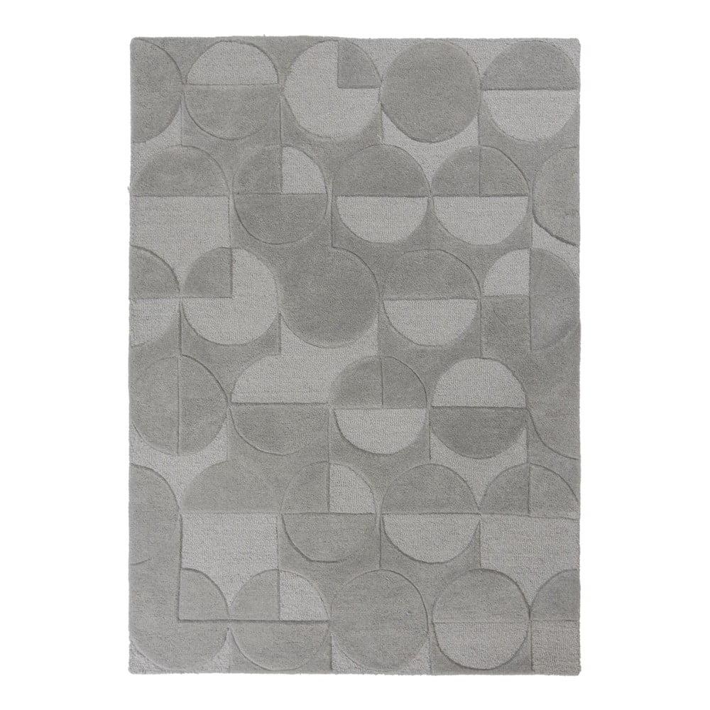Šedý vlněný koberec Flair Rugs Gigi, 120 x 170 cm