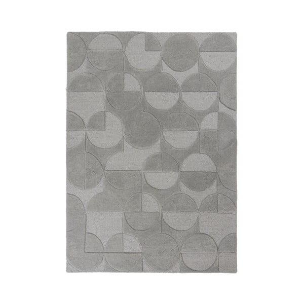Šedý koberec z vlny Flair Rugs Gigi, 160 x 230 cm