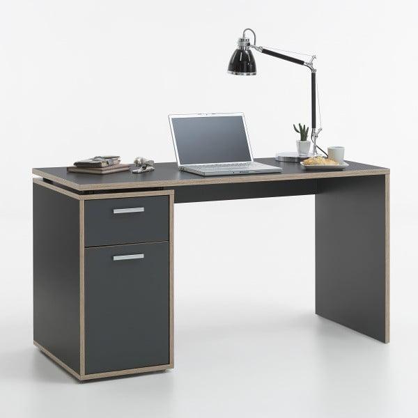 Pracovní stůl Elias, šedá/dub