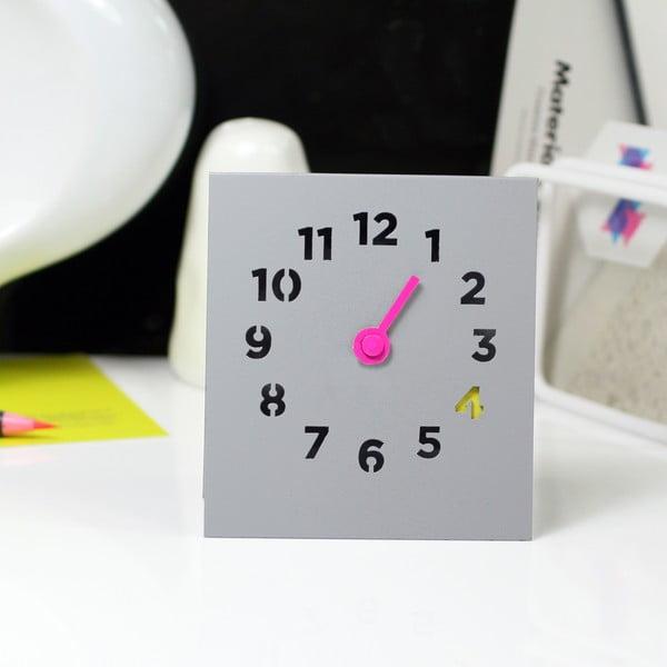 Stolní hodiny Desk Clock, šedé