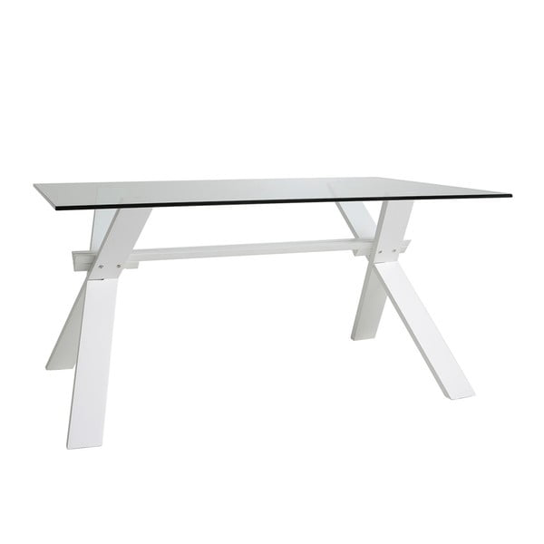 Bílý jídelní stůl Marckeric Selena, 160 x 90 cm