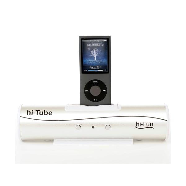 Přenosný reproduktor Hi-Tube, stříbrný