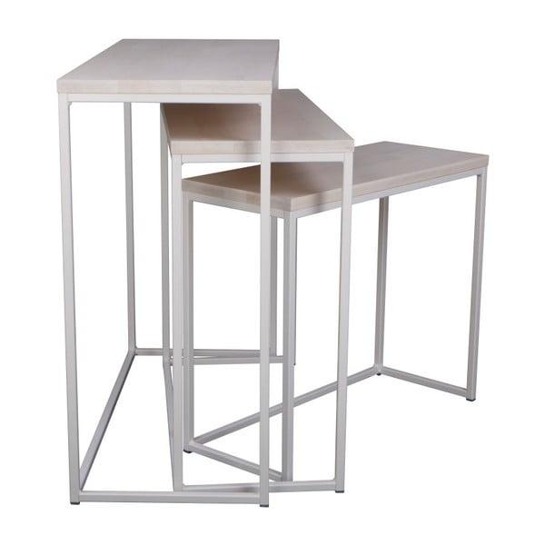 Giewont 3 db-os fehér konzolasztal szett - Nørdifra