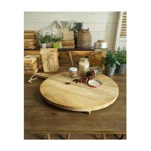 Krájecí a servírovací prkénko z mangového dřeva Orchidea Milano Vintage Wood Round Large