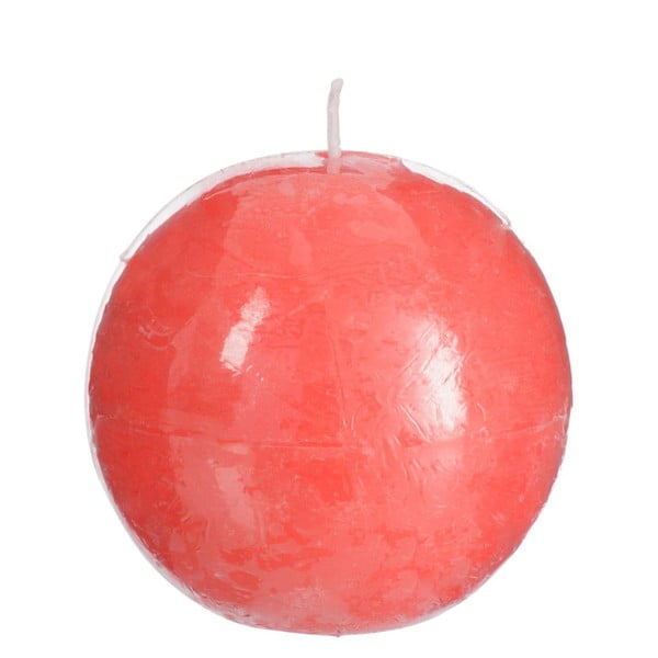 Růžová svíčka J-Line Ball