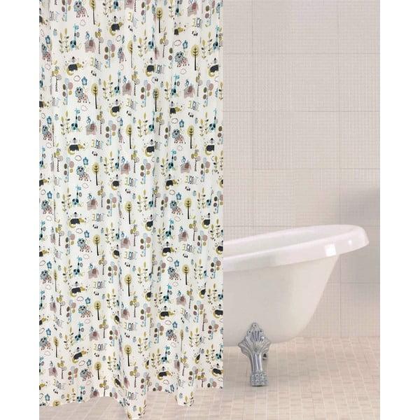 Jungle Town zuhanyfüggöny, 180 x 180 cm - Sabichi
