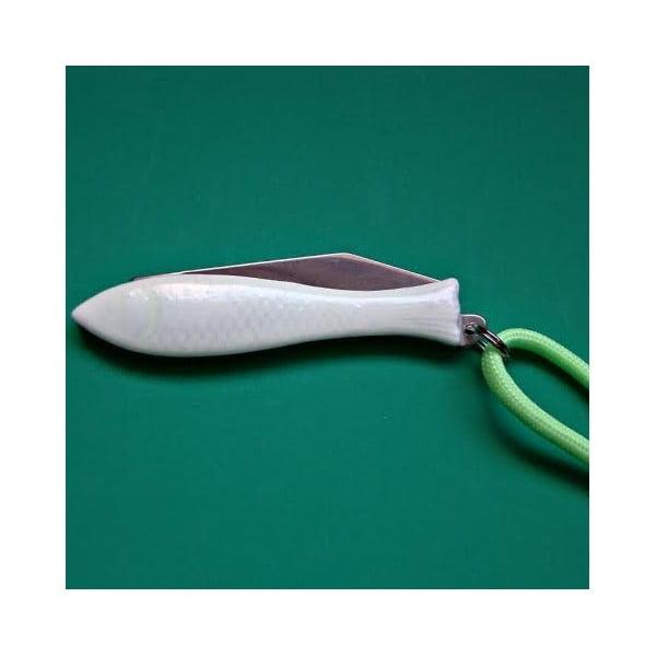 Český nožík rybička, svítící ve tmě + svítící šňůrka