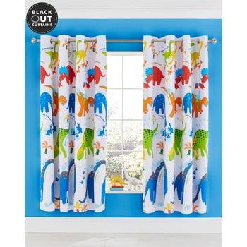 Set 2 draperii pentru camera copiilor Catherine Lansfield Dino, 168 x 183 cm imagine