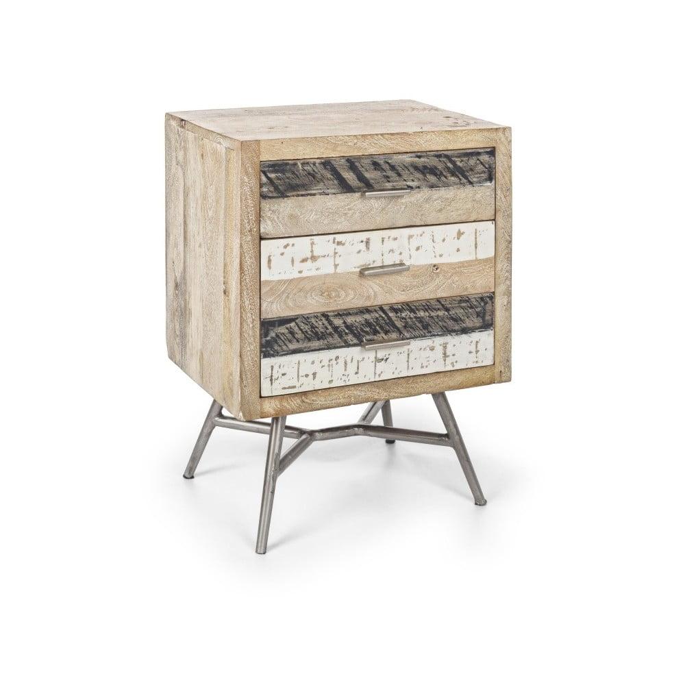 Noční stolek z mangového dřeva Bizzotto Leiston