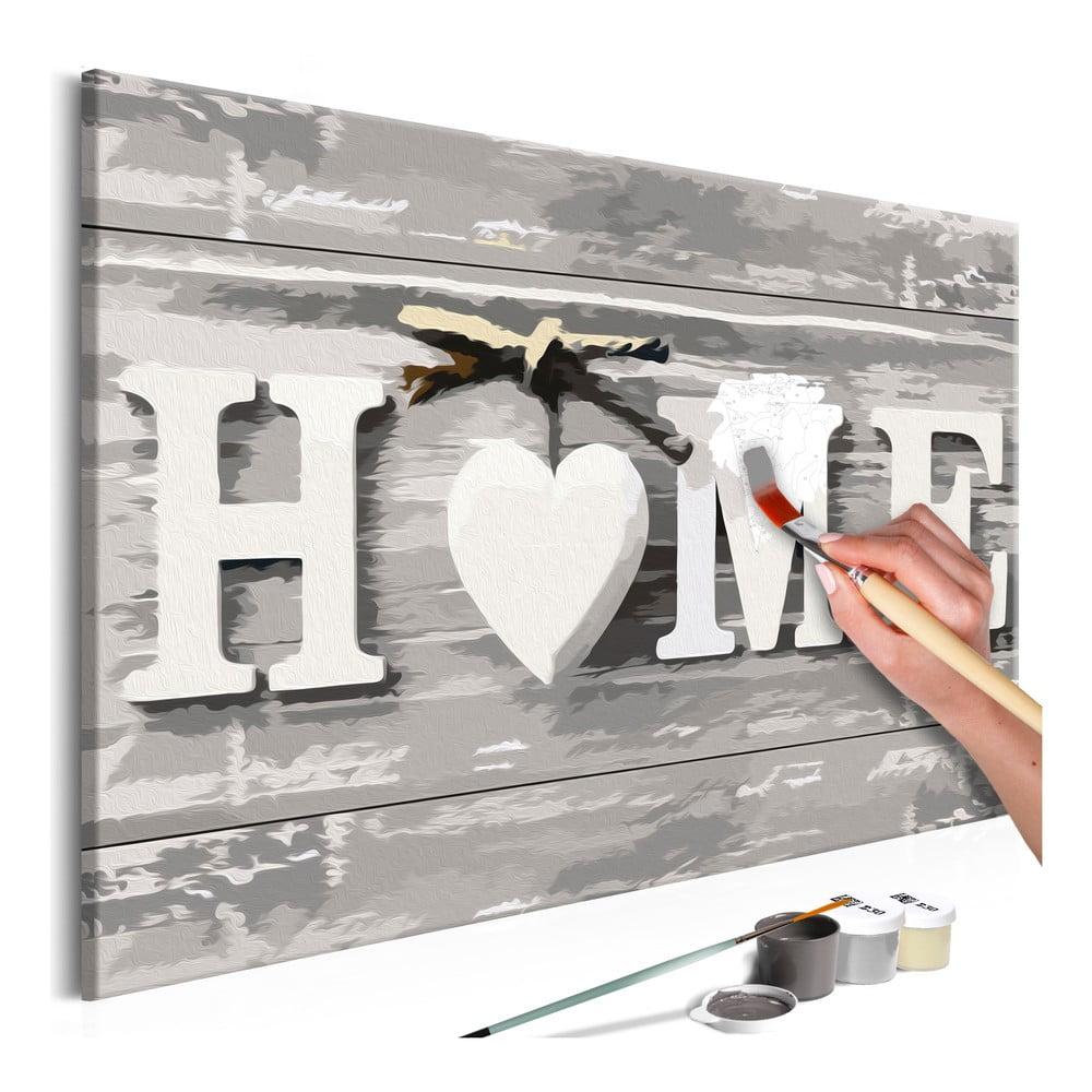DIY set na tvorbu vlastního obrazu na plátně Artgeist Home Letters, 60 x 40 cm