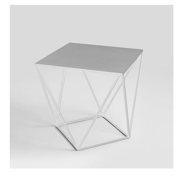 Daryl fehér tárolóasztal, 55 x 55 cm - Custom Form