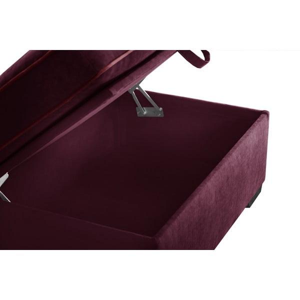 Trojdílná sedací souprava Jalouse Maison Serena, vínová