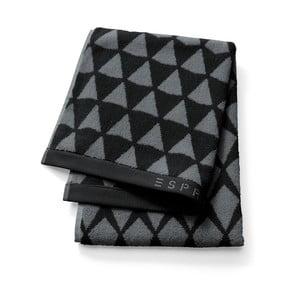 Černý vzorovaný ručník Esprit Mina, 30x50cm