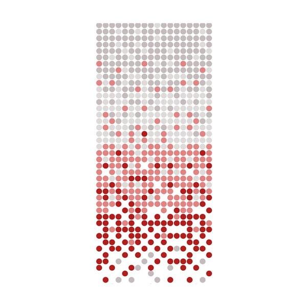 Sprchový závěs White&Red Dotted