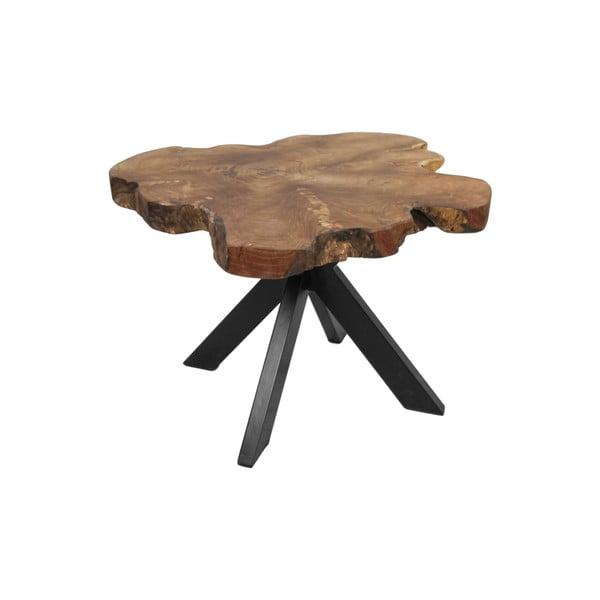 Příruční stolek z teakového dřeva HSM collection Victoria, 70 x 45 cm
