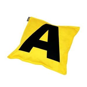 Polštář Lona Letter 40x40 cm, žlutý