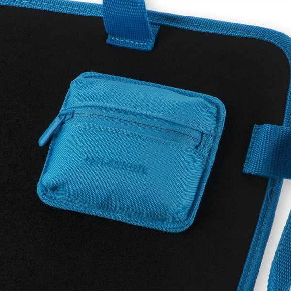 Univerzální kapsička se suchým zipem Moleskine 10x9 cm, modrá