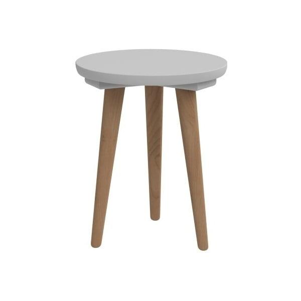 Šedý stůl D2 Bergen, 30 cm