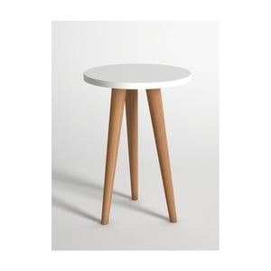 Bílý odkládací stolek Monte Roma