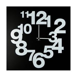 Nástěnné hodiny dESIGNoBJECT.it Numbers Circle Black,50x50cm