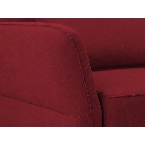 Červená trojmístná rozkládací pohovka Windsor & Co Sofas Casiopeia