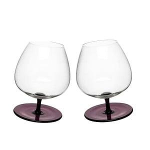 Sada 2 fialových houpacích sklenic na brandy Sagaform