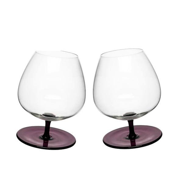 Set 2 pahare pentru brandy Sagaform, mov