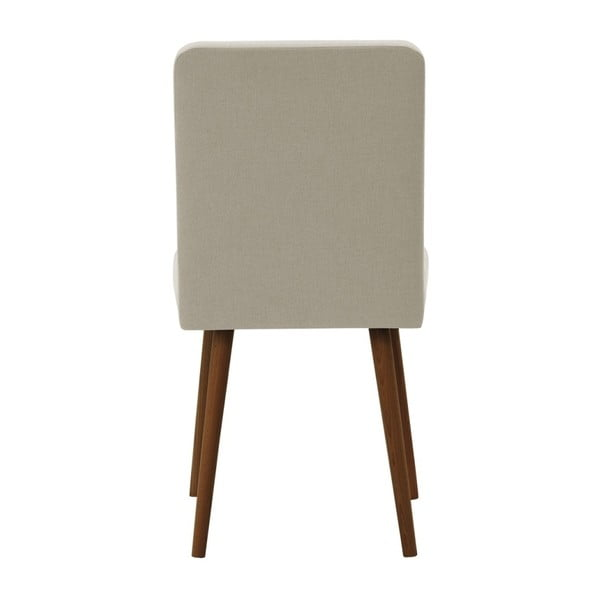 Béžová židle s tmavě hnědými nohami z bukového dřeva Ted Lapidus Maison Fragrance