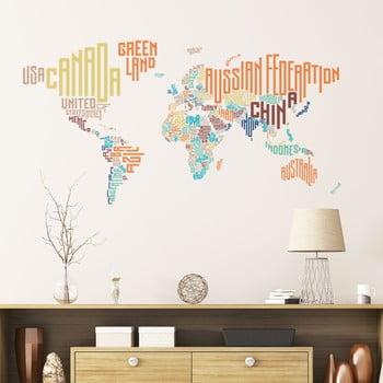 Autocolant de perete Ambiance World Map Modern de la Ambiance