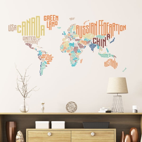 Autocolant de perete Ambiance World Map Modern