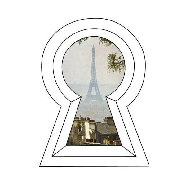 Samolepka na zeď View of the Eiffel Tower, 30x45 cm