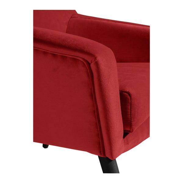 Cihlově červené křeslo s černými nohami Max Winzer Alegro