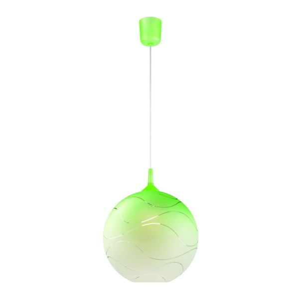 Zelené kulaté závěsné svítidlo Lamkur Waves