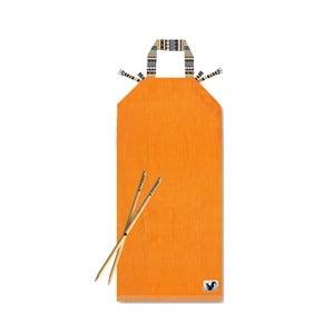 Oranžové plážové lehátko Origama Tribal