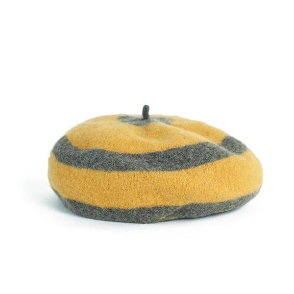 Žlutý pruhovaný baret Melina