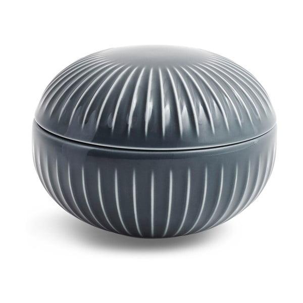 Hammershoi antracitszürke porcelán doboz, ⌀ 11,5 cm - Kähler Design