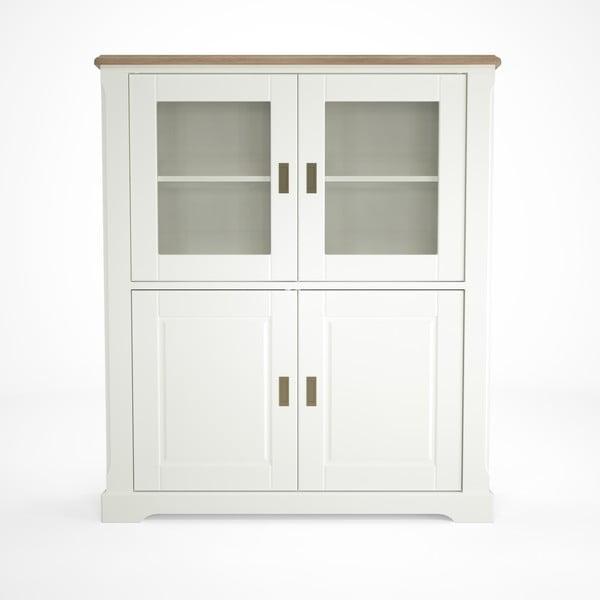 Biała witryna drewniana Artemob Campton